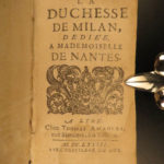 1682 1st & ONLY ed Duchess of Milan by Jean de Prechac French Literature Italy