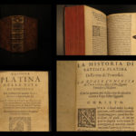 1590 POPES Lives Platina Catholic Church Sacchi Italian Panvinio Venice Medici
