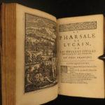 1670 Lucan PHARSALIA Julius Caesar Civil War Pompey Rome French Illustrated