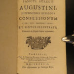 1687 Confessions of Saint Augustine Catholic Doctrine Predestination Philosophy