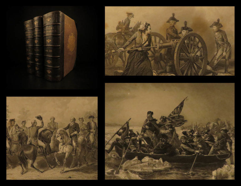Image of 1878 Battles of America Sea & Land Tomes Revolutionary WAR Navy Illustrated 3v