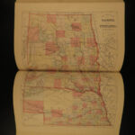 1882 Our Western Empire America INDIANS California Gold Mining Atlas MAPS Texas