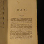 1865 Villette by Charlotte Bronte Feminism Gender Roles Belgium Early US ed