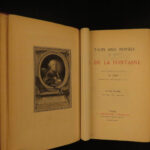 1884 EXQUISITE Jean de La Fontaine Tales & Novels Contes Eisen Illustrated 2v