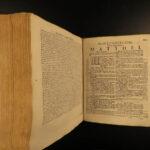 1775 DUTCH BIBLE Leiden Biblia Sacra Netherlands Holland Luchtmans Protestant