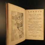 1761 LONDON Environs England Geography City Maps Illustrated Architecture SET