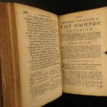 1676 1st OXFORD Homer ILIAD Greek Mythology Ilias Herodotus Didymus Commentary