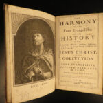 1720 1ed Harmony of Four Evangelists BIBLE Gospels Matthew Hale Illustrated FOLIO