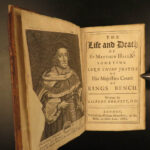1682 LAW 1ed Life of Matthew Hale England English Civil War Dissenters Burnett