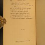 1889 FINE BINDING Book of Ballads English Scottish Wm Aytoun Cartoon Illustrated