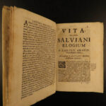 1696 FALL of ROME Salvian Gaul & Vincent Lerins Early Christian Martyrdom RARE