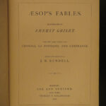 1878 Aesop's Fables Illustrated by Griset English AESOP Fontaine Croxall Tales