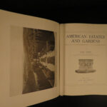1904 1st ed American Estates & Gardens Architecture White House Illustrated RARE