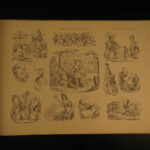 1840 Demonology Witchcraft Caricature Illustration Humor Art of Tormenting RARE