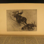 1890 1ed Big Game Hunting of North America Deer Polar Bears Caribou Wolves Goats