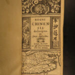 1639 1st Elzevier ed CHINA History Jesuit Trigault Geography Great Wall ASIA