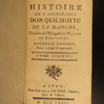 1781 Don Quixote la Mancha Cervantes Picart & Aubin Illustrated French 6v Lyon