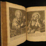 1703 ILLUSTRATED Bible Art JESUS & Apostles William Cave Church Fathers Folio