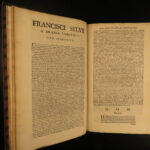 1698 1ed Summa AQUINAS Francis Sylvius Commentary Existence God Catholic FOLIO