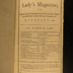 1789 Lady's Magazine Captain Cook Voyages Architecture Louvre Etna Volcano