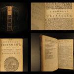 1677 1ed French Geneva Huguenot Bible Marot Psalms Music Calvin Protestant Beza