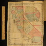 1854 1ed History of California by Capron + FAMOUS MAP San Francisco INDIANS Gold
