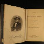 1884 1ed Life of Sam Houston TEXAS Stephen F Austin INDIANS Mexico San Jacinto