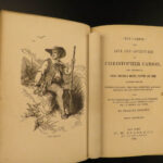 1860 Life of Kit Carson American Expeditions INDIANS Hunting John C Fremont