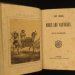 1854 1ed Native American INDIANS Canada FINE BINDING Six Months Among Savages