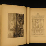 1880 Pompeii Destruction Mount Vesuvius Volcano ROME Pompeiana Illustrated Gell