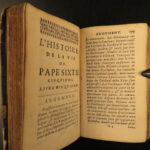 1690 Life of Pope Sixtus V Gregorio Leti Counter Reformation ROME Vatican 2in1