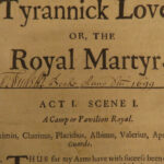 1670 1ed John Dryden Tyrannick Love Saint Catherine Martyrdom Emperor Maximinus
