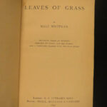 1897 Walt Whitman Leaves of Grass American Poetry SEXUALITY Scandal Romanticism