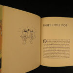 1933 1st ed DISNEY Three Little Pigs Silly Symphonies Walt Color Illustrated