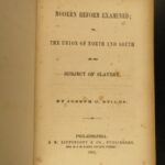 1857 1ed SLAVERY Reform Examined Civil War Joseph Stiles Slave Abolition RARE