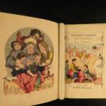 1860 Mother Goose Nursery Rhymes Color Illustrated Children Poetry Jack & Jill