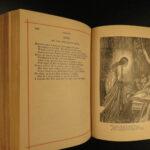 1880 BEAUTIFUL 6v Literature & English Poetry Chaucer Milton Cowper Moore Scott