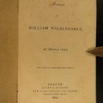 1834 1st ed William Wilberforce Memoir anti SLAVERY Slave Abolition America