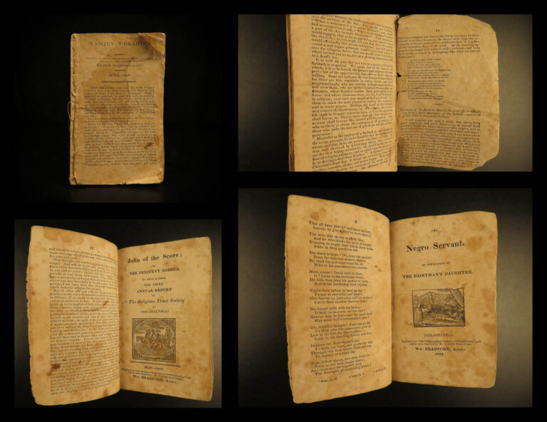 Image of 1818 Early American SLAVERY Pamphlets Philadelphia Negro Slave Bradford 4in1