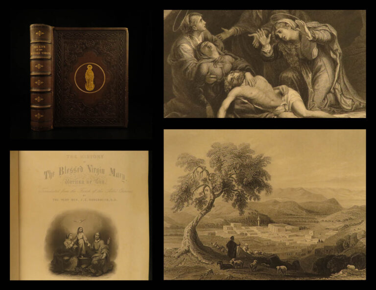 Image of 1861 EXQUISITE Blessed Virgin Mary Orsini English Catholic Ireland Illustrated