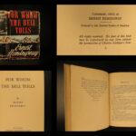 1940 1st ed For Whom the Bell Tolls Ernest Hemingway American War Novel ORIG DJ!