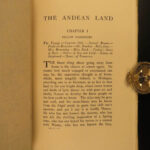 1909 1st ed Andean Land South America Photographs Robinson Crusoe Illustrated