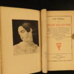 1895 1ed Edgar Allan Poe Poetical Works Raven Bells OCCULT Horror Poetry Memoir