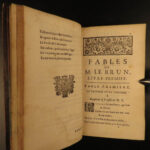 1722 1st ed FABLES of Antoine le Brun French Literature Verse Animal Tales