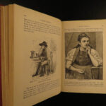 1882 UK 1st ed Mark Twain A Tramp Abroad Travel Illustrated Satire Alps CLASSIC