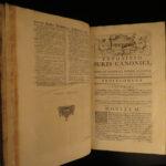 1737 HUGE FOLIO Corpus Juris Canon LAW Gibert Catholic Church 3v SET Latin Lyon