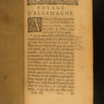 1695 Voyages of Balthasar de Monconys Italy & Germany Castles Forts Illustrated