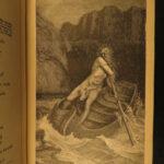 1883 Dante Alighieri Divine Comedy Inferno Vision Hell Purgatory Dore Illustrated
