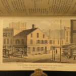 1864 1ed New York City Business HUGE MAP Manhattan Color Illustrated Corporation