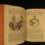 1853 Monstrelet Chronicles Medieval 100 Years War Orleans Burgundy Vellum 2v SET